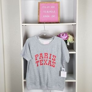 Bad.do Gray Paris Texas Tee SZM NWT